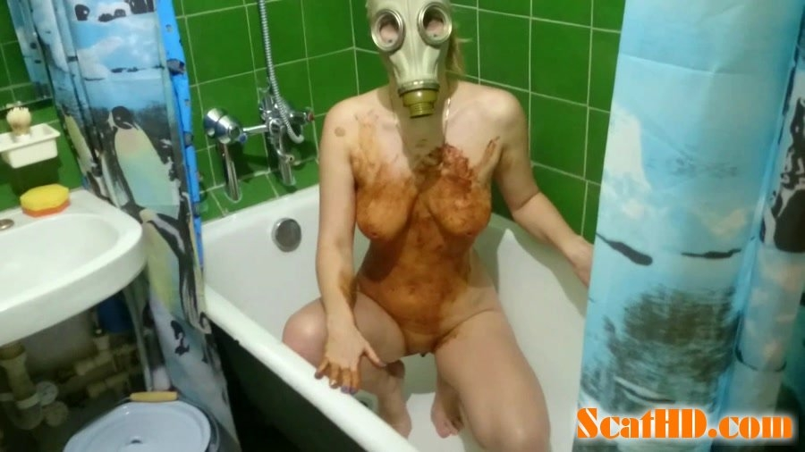 Smearing shit in a gas mask - With Actress: Brown Wife [mp4] (2018) [FullHD Quality MPEG-4 Video 1920x1080 29.917 FPS 7747 kb/s]