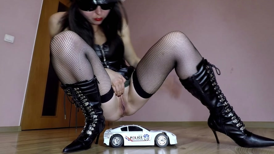 Police Toy Car Crush - With Actress: janet [MPEG-4] (2020) [FullHD 1920x1080]